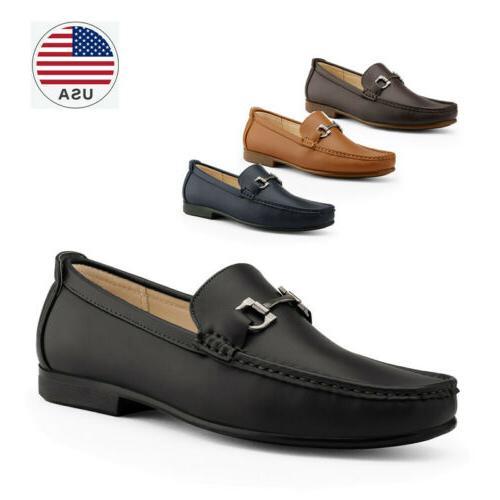 men s dress moccasin loafers slip on