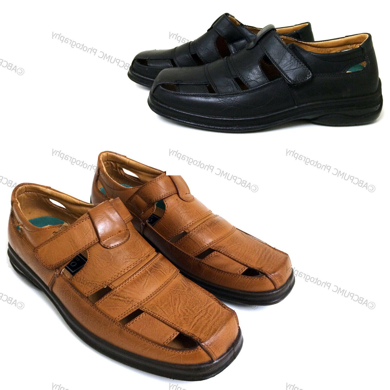 men s dress sandals closed toe straps