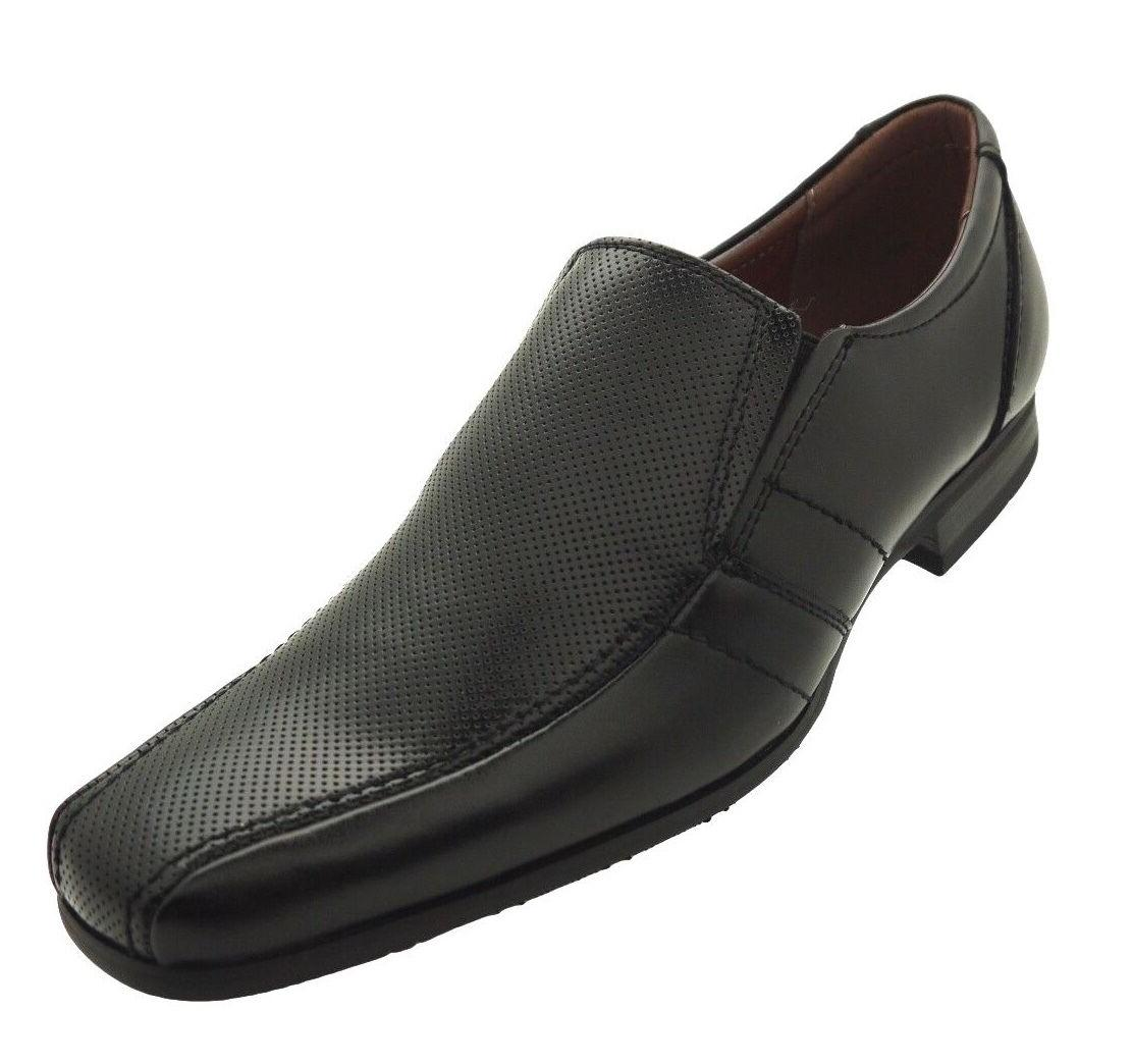 men s dress shoes black leather loafers