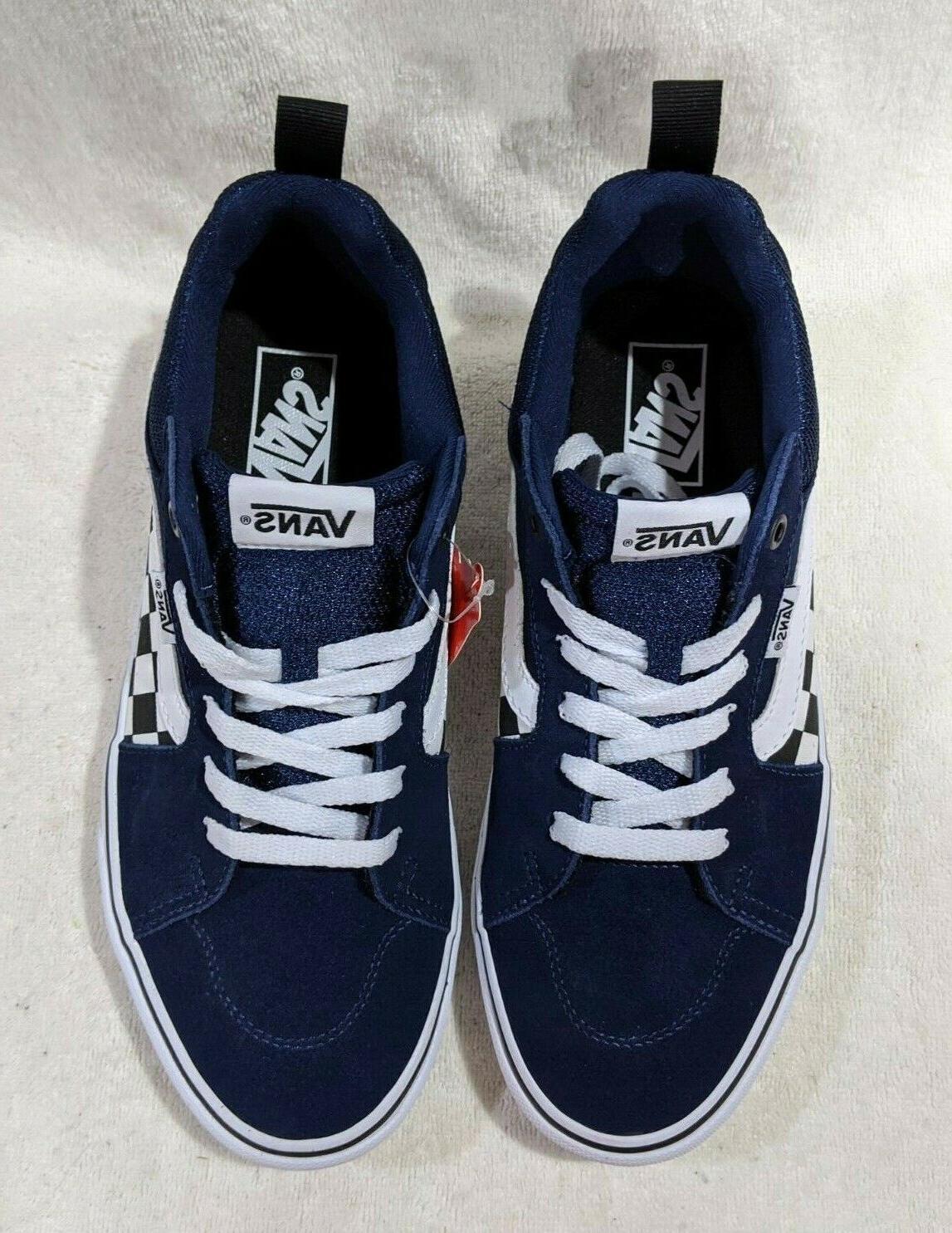 Vans Men's Filmore Checkerboard Dress Blue/White Skate Sizes