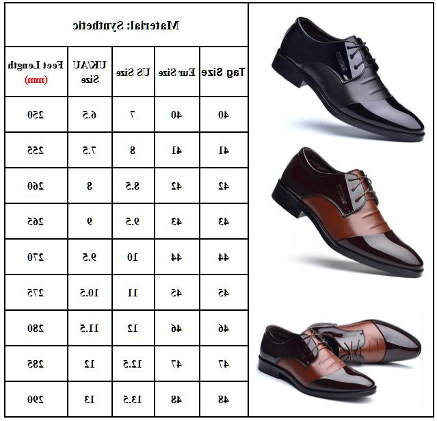 Men's Lace Up Oxfords Leather Wedding Formal Work Shoes Toe New