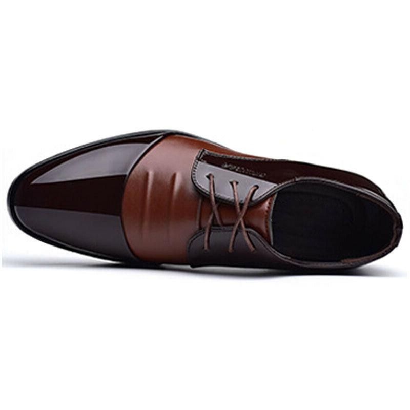 Men's Lace Leather Formal Toe