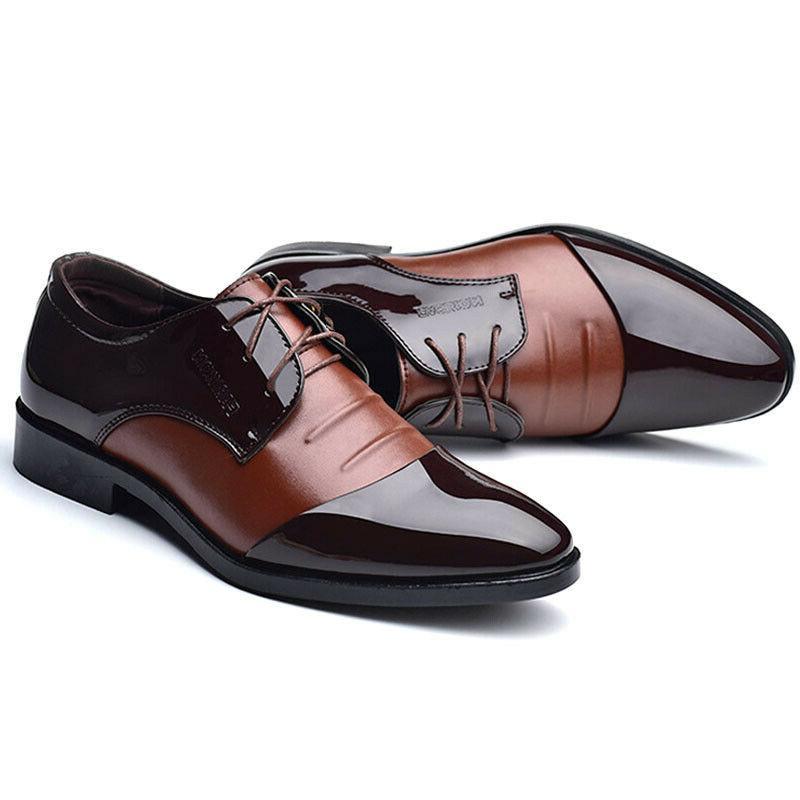 Men's Lace Leather Tuxedo Formal Shoes