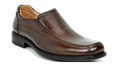 BRUNO Men's Toe Leather On Loafers Dress Shoes