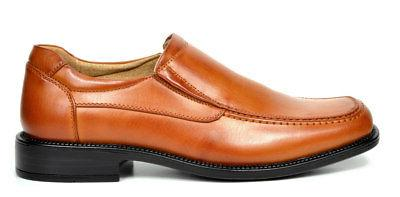 BRUNO Toe Leather Slip On Loafers