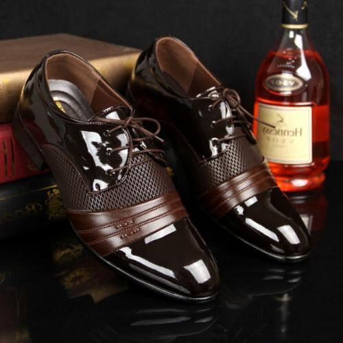 Men's Leather Shoes New Dress Formal Oxfords Business Casual