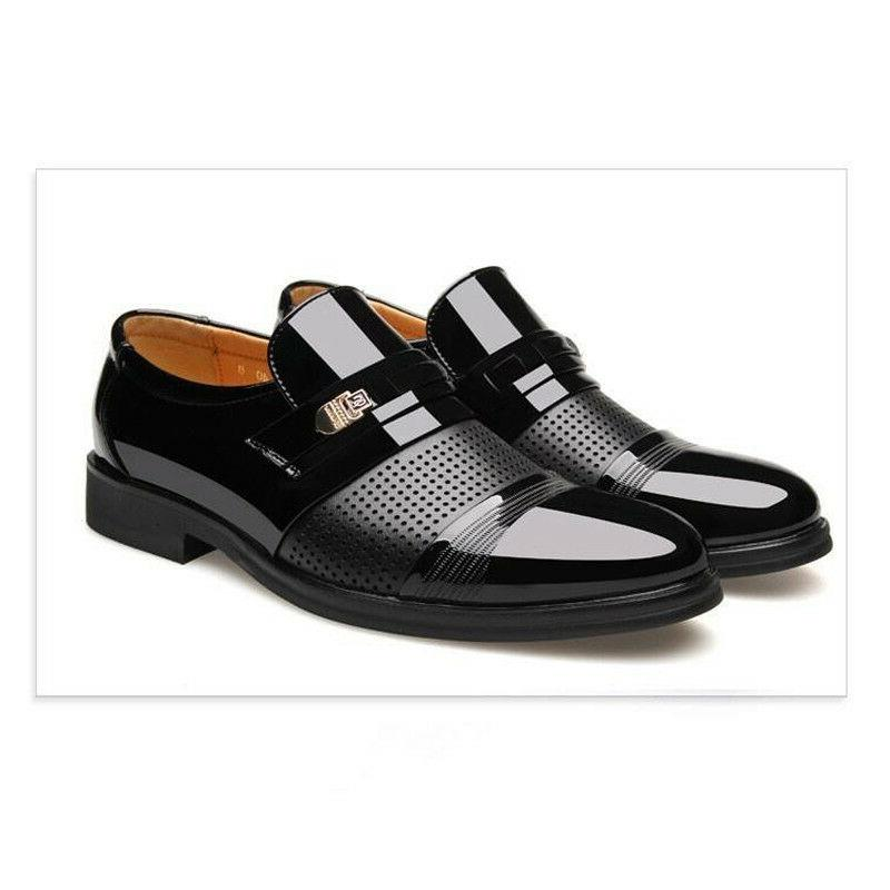 Men's Leather Shoes Oxfords Business Wedding Formal Casual Slip