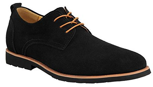 men s leather suede oxfords shoe us