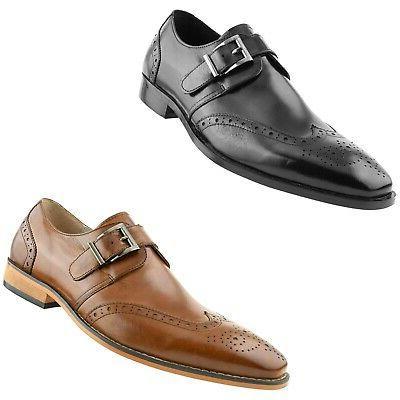 men s monstrap dress shoes genuine leather