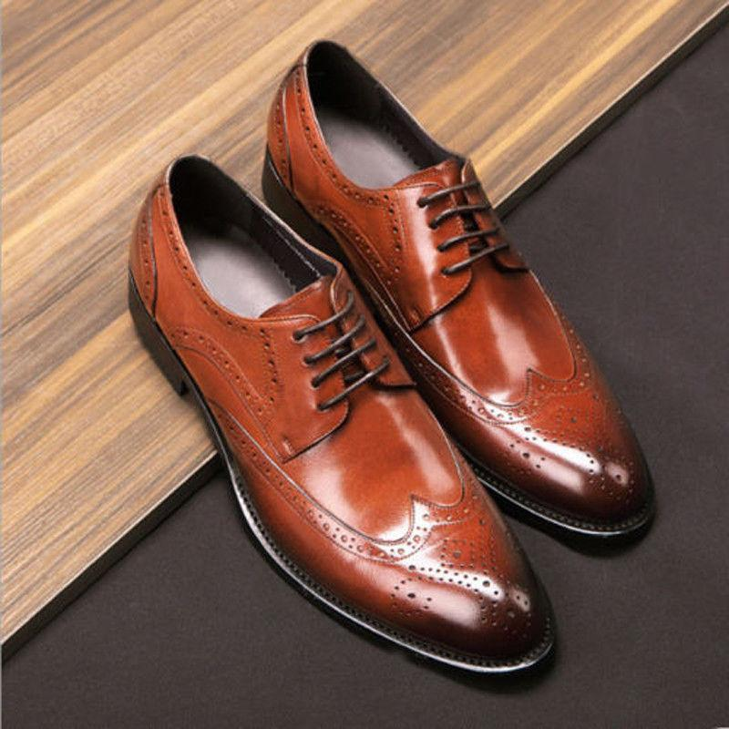 Men's Oxfords Brogue Formal Dress up Wing Shoes