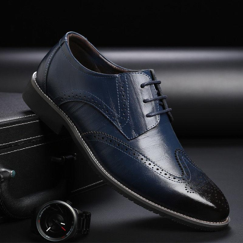 Men's Brogue up Tip Wedding Shoes