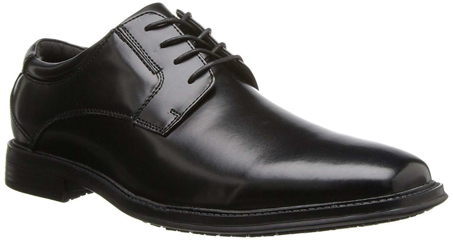 Dockers Men's Sansome Leather Slip-Resistant Work Dress Oxfo