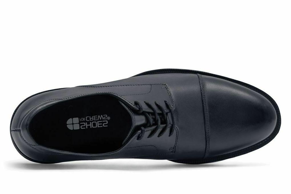Shoes Senator Black Leather Toe Shoes
