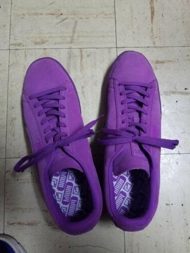 PUMA Men's Shoe/Sneaker Purple Emboss 12 New