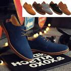 Men's Suede Shoes Formal Dress Oxfords Lace Up Casual Flats