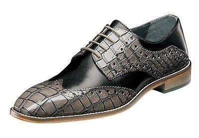 Stacy Adams Men's Tomaselli Wingtip Lace-up Dress Oxford - B