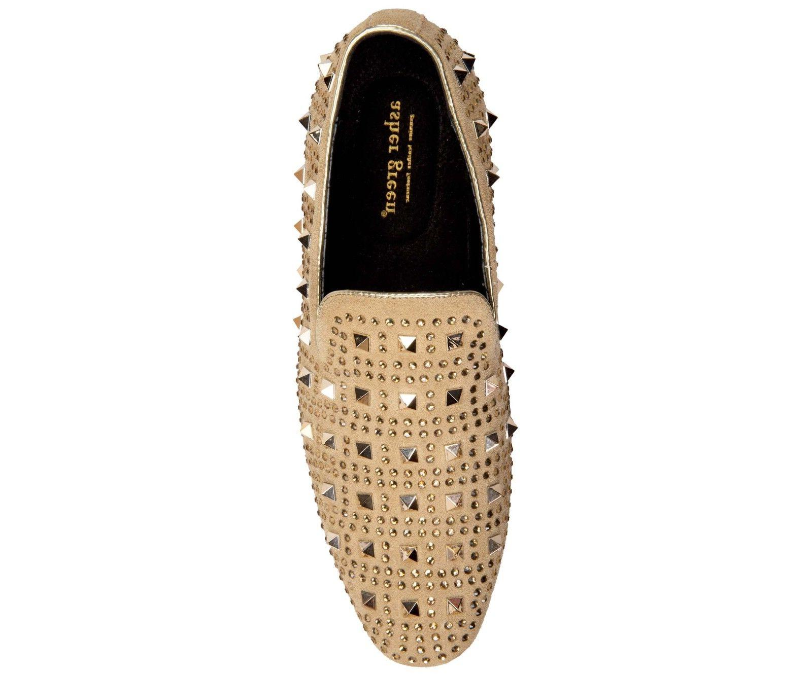Asher Crystal and Studded Slip Dress Shoe :