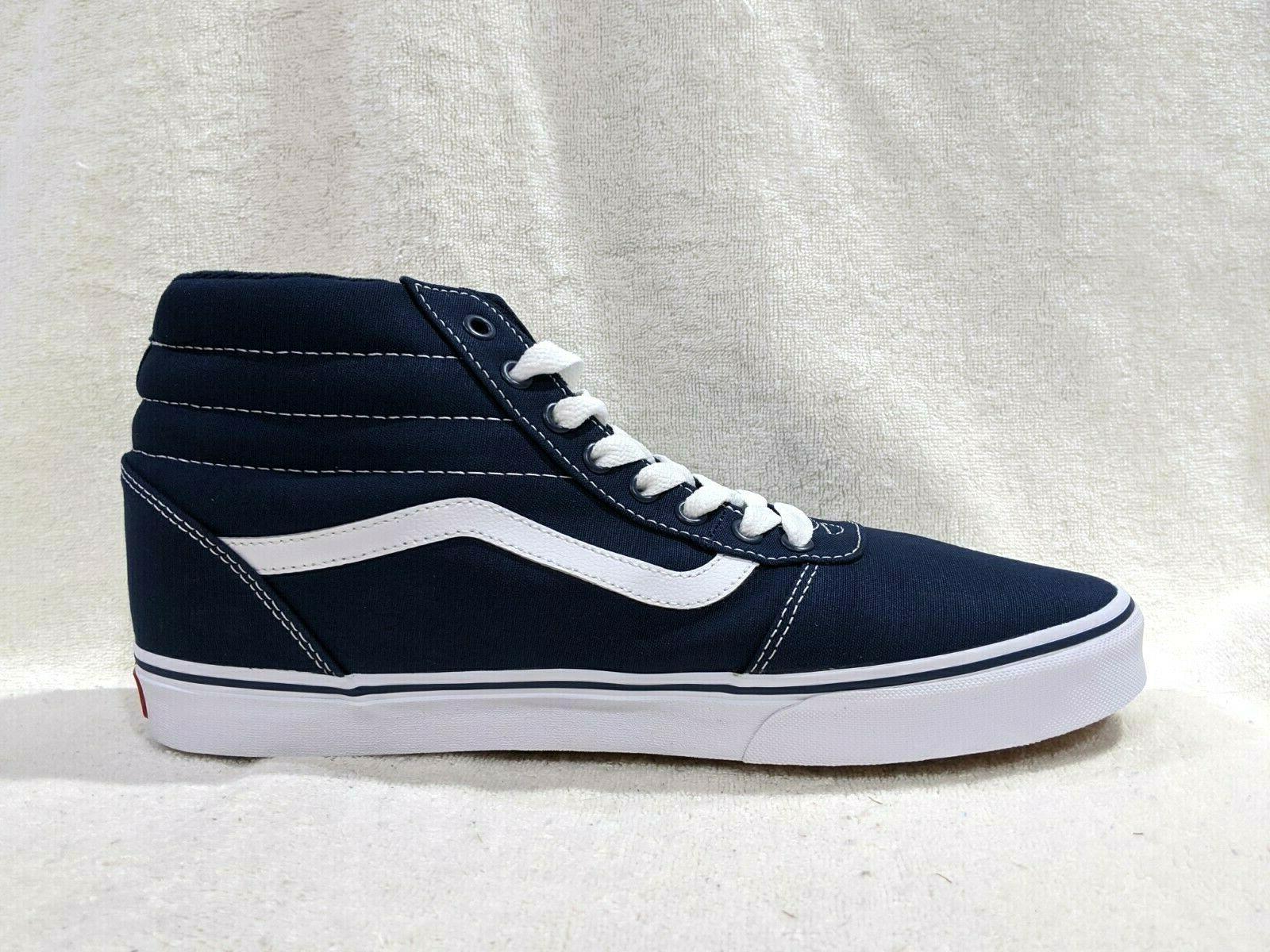Vans Ward Blue/White Canvas Skate Shoes Size 9.5/12/13
