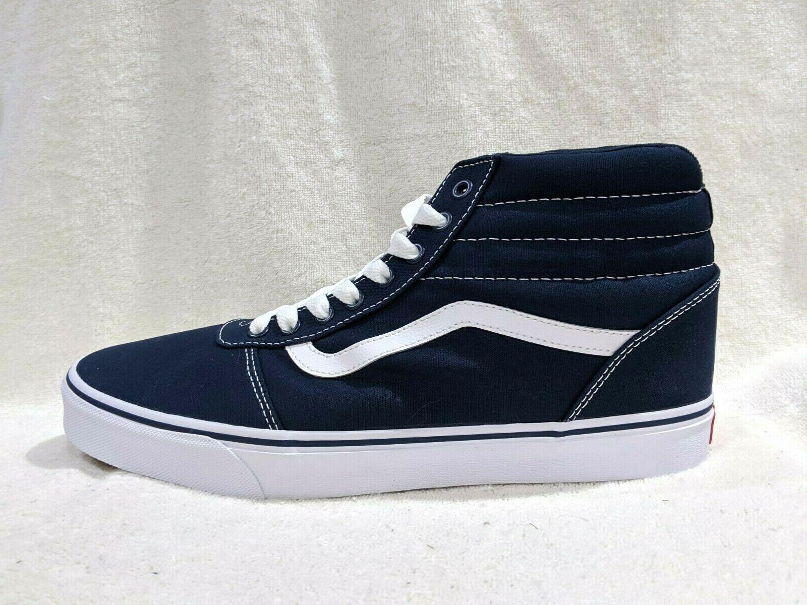 Vans Men's Blue/White Canvas Hi Top Skate Shoes - Size 9.5/12/13 NWB