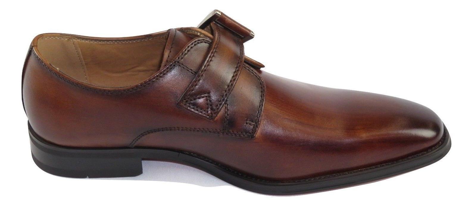 Men Moretti Soft Leather Monk Cognac