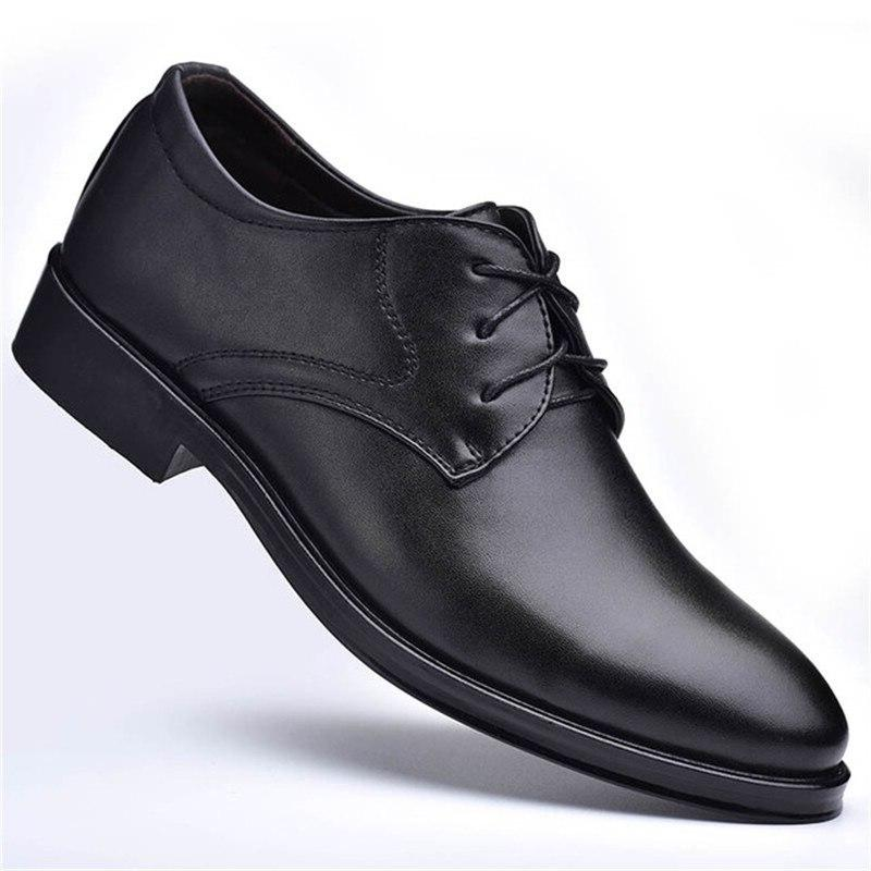 men wedding leather formal business pointed for man men's oxford Plus Size <font><b>Shoes</b></font>