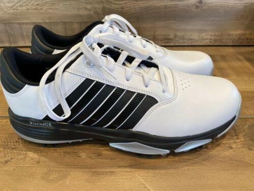 adidas Mens Golf Shoes, Size US, White/black