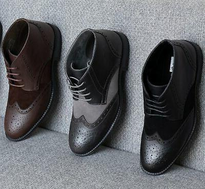 Alpine Boots Wing Up Dress Shoes Brogue