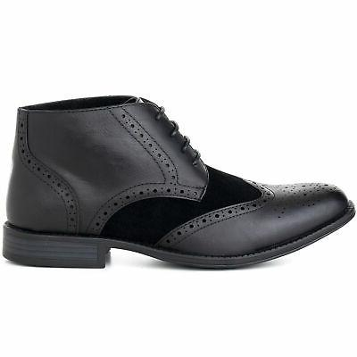 Alpine Wing Tip Dress Shoes Two Tone Brogue Medallion