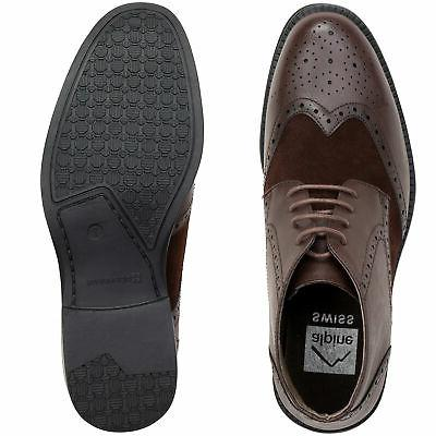 Alpine Wing Dress Shoes Two Brogue Medallion