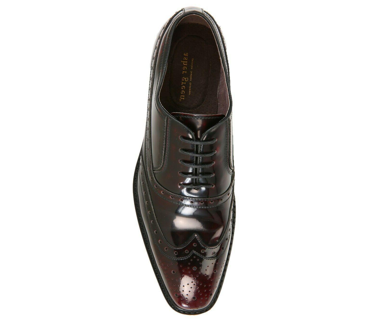1761ec21fcbe4 Asher Green Mens Burgundy Genuine Box Calf Leather