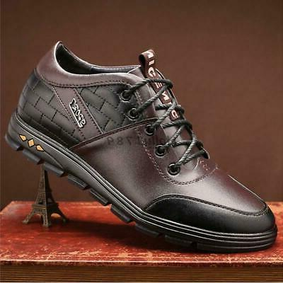 mens casual dress lace up shoes invisible
