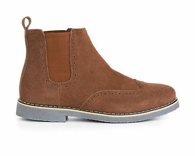 Alpine Boots Genuine Suede Ankle Wingtip Shoes