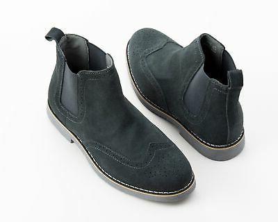 Alpine Boots Genuine Suede Ankle Wingtip