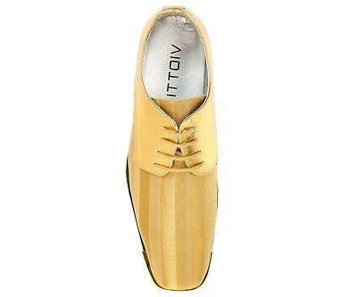 Bolano Oxford Striped Satin w/ Gold Tip: 5205-035