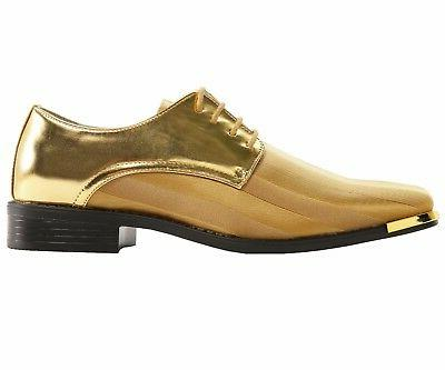 Bolano Mens Oxford Striped Satin Dress w/ Tip: Style 5205-035