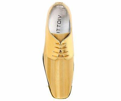 Bolano Mens Striped Satin Dress Shoe w/ 5205-035
