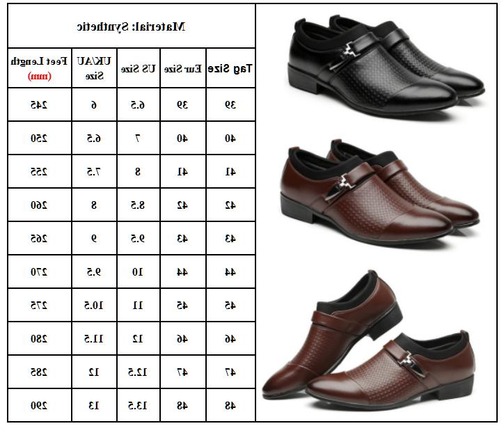Men's Leather Casual Pointed Business