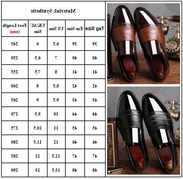 Slip Oxfords Mens Dress Formal Shoes Brogue Leather