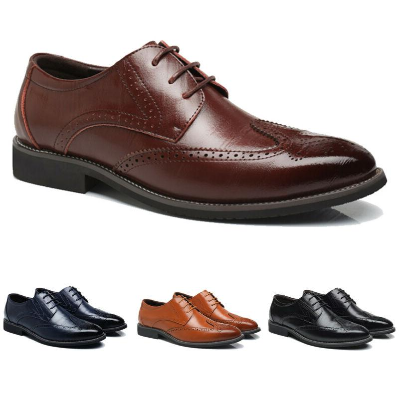 Mens Lace Up Office Oxfords Size