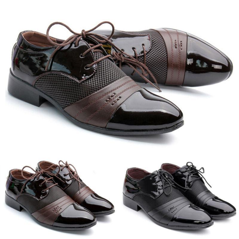 Men Oxfords Dress Tuxedo Formal Shoes Driving Casual