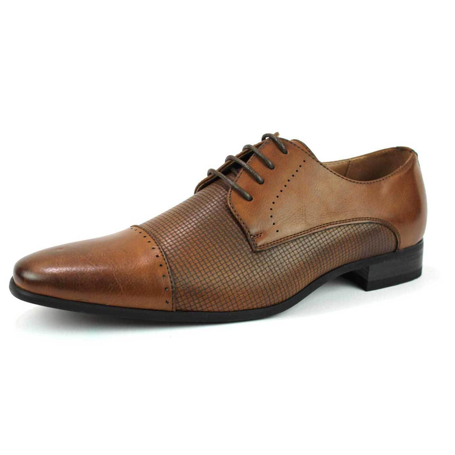 mens dress shoes cap toe lace up