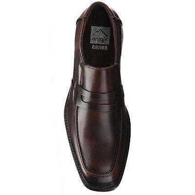 Alpine Swiss Mens Shoes Penny Slip On Genuine Inside