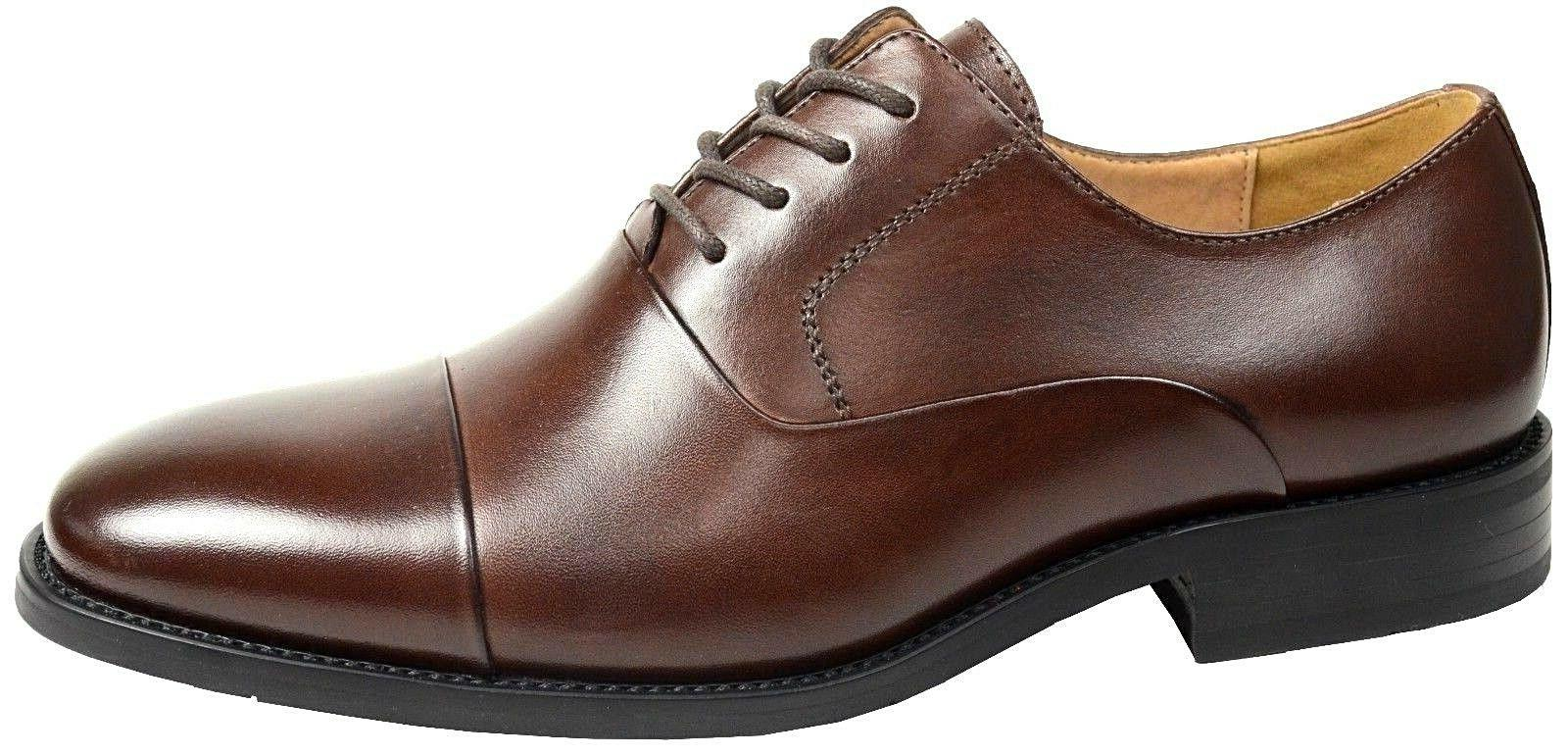 LA MILANO Mens Dress Shoes Cow Leather Oxfords Classic Round