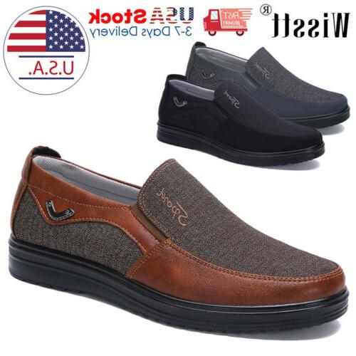 mens dress shoes slip on driving canvas
