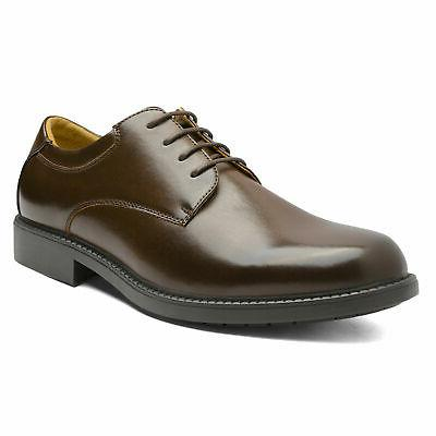 Bruno Mens Formal Dress Shoes Leather Plain Toe Oxfords Shoes
