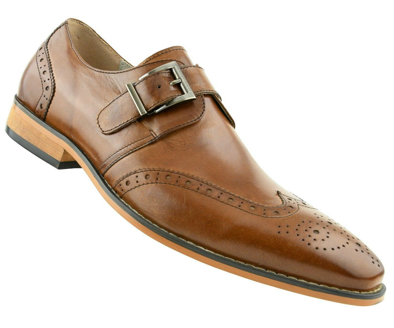 Men's Dress Genuine Leather Wing Tip