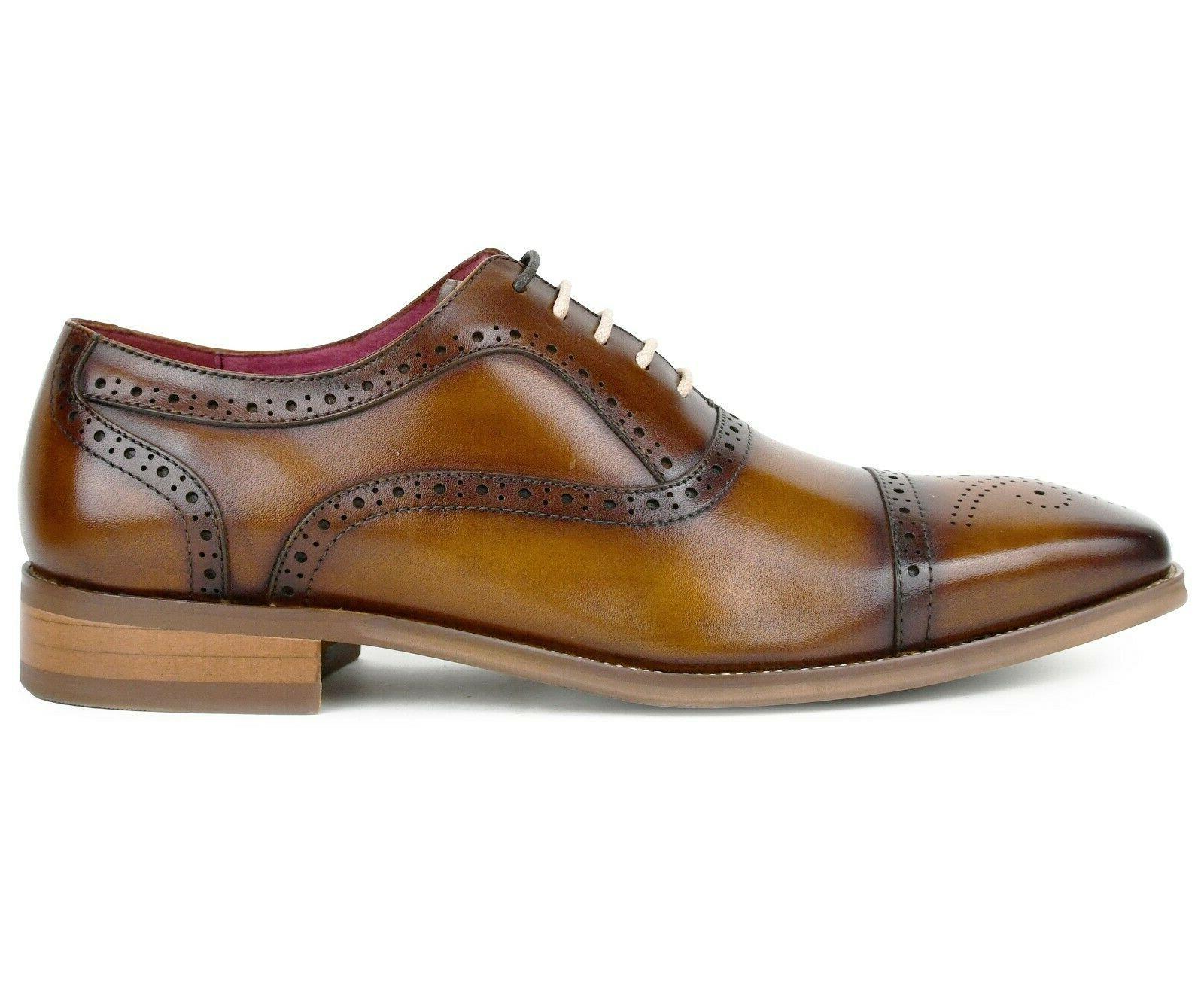 Men's Dress Shoes Genuine Leather Oxfords, Lace Up Dress