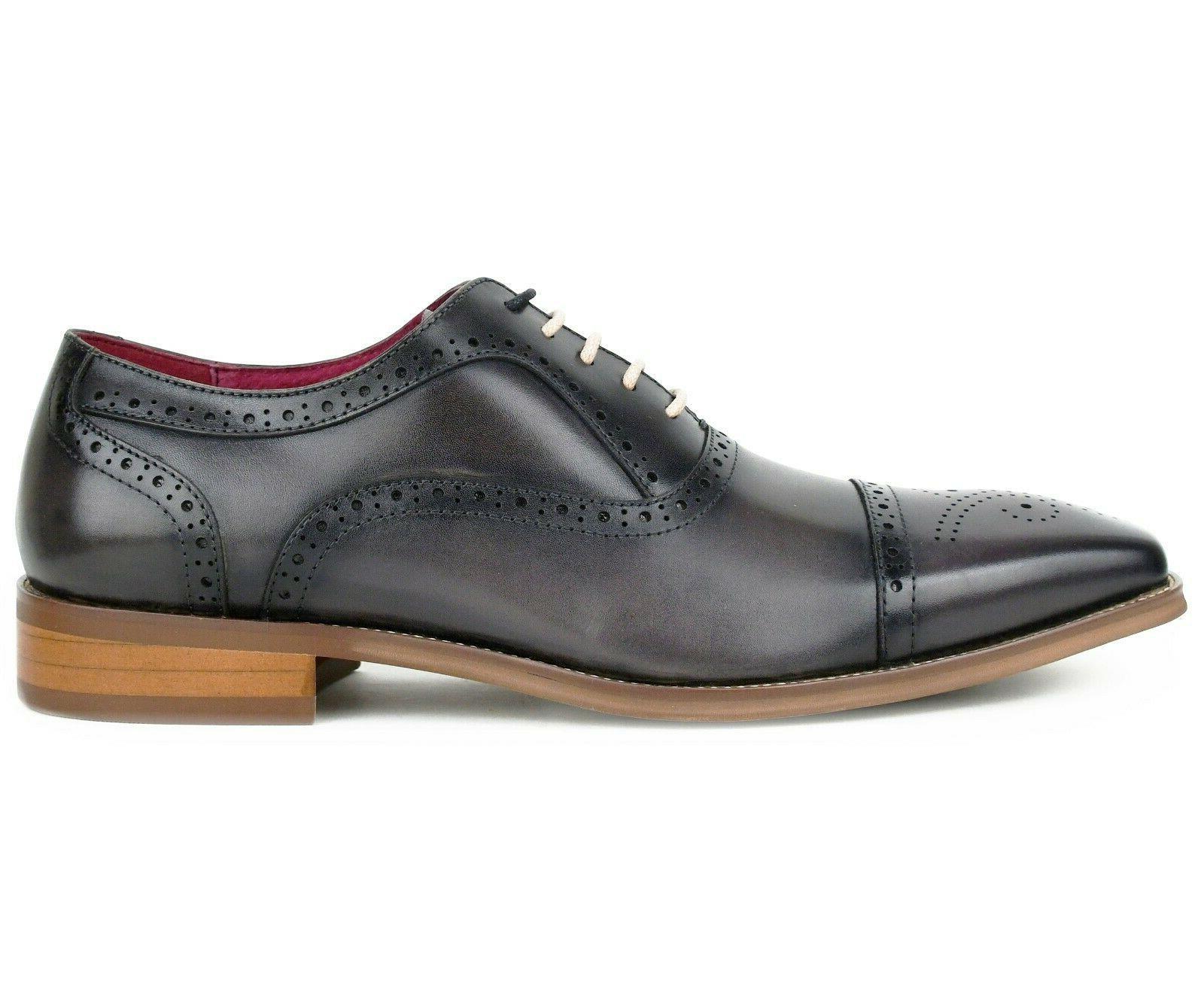 Men's Dress Shoes Genuine Oxfords, Lace Up Dress Shoes