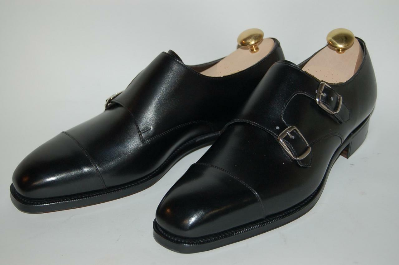 mens genuine leather dress shoes oxfords buckle