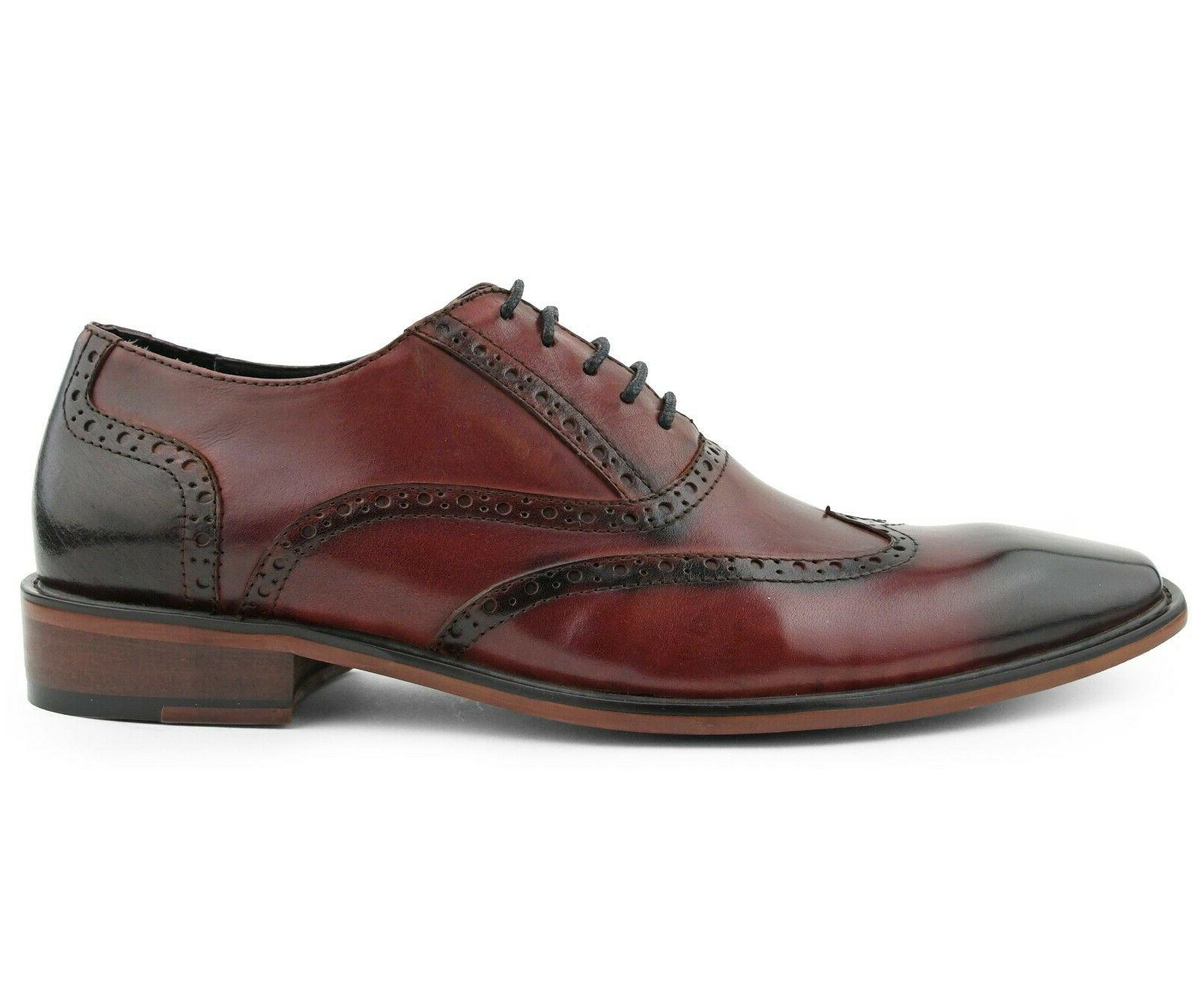 Mens Dress Shoes, Wingtip Leather for Oxfords